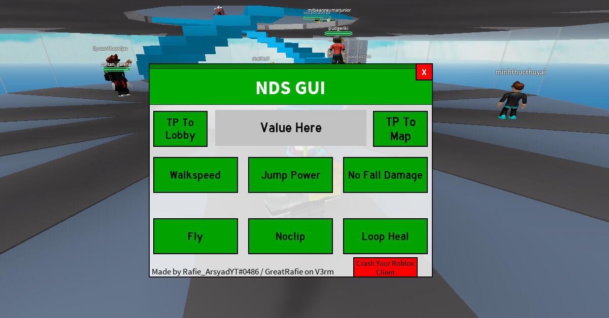 Roblox Natural Disaster Survival GUI Script gameplay