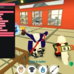 Anime fighting simulator gameplay in Roblox